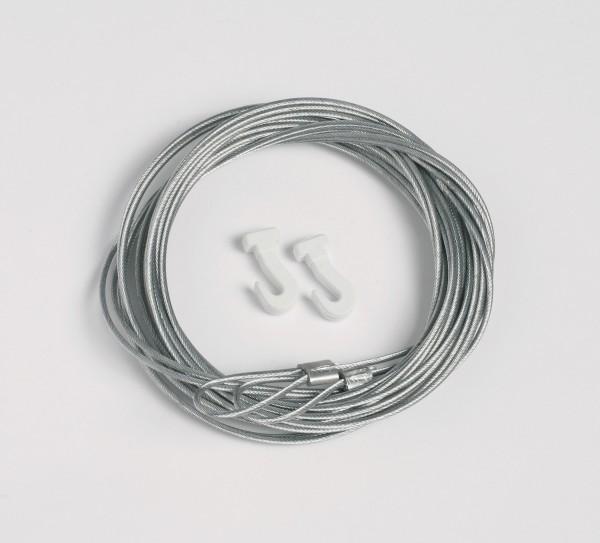 Stahlseil 200 cm mit Schlaufe und Gleithaken PROFI / ECONOMY - 2 Stück