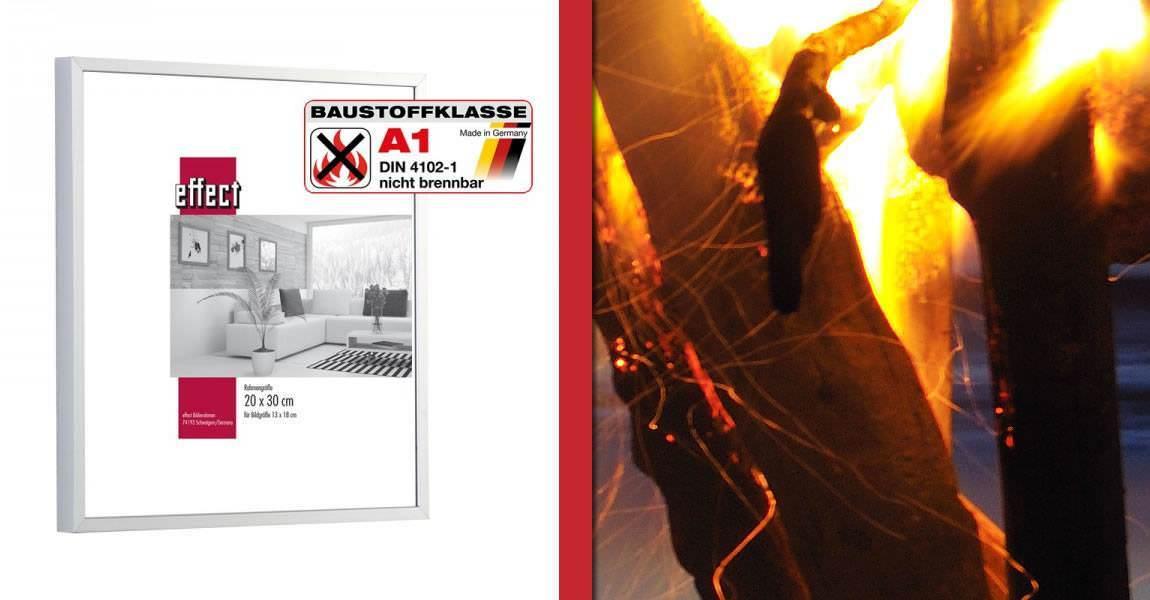 Brandschutzbilderrahmen aus Aluminium | Bilderrahmen-kaufen.de