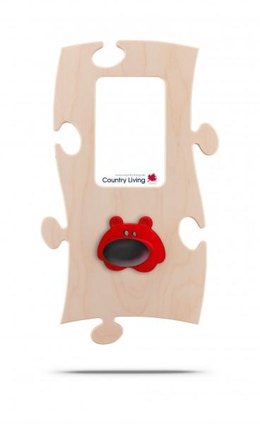 Puzzles+ Garderobe/ Rahmen Brumm Bär/ 1 Foto 10x15 cm