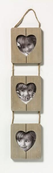 Galerierahmen Cuore 3x 9x9 cm