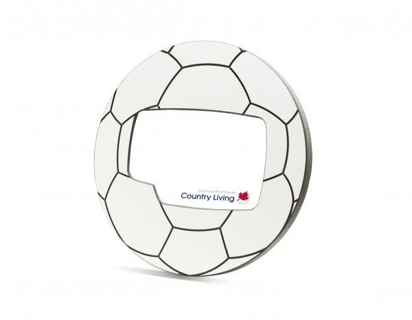 Fußball Rahmen für 1 Foto 10 x 15 - weiß