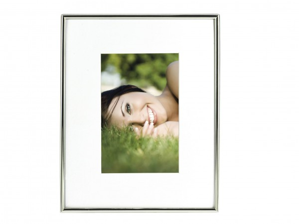 Metall Fotorahmen Fine inkl. Passepartout - silber