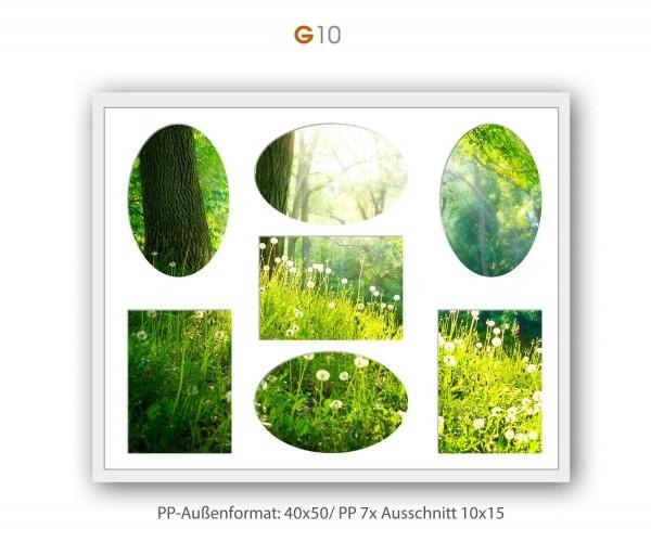 Galerie Passepartout G10 - 40x50/ PP 7x 10x15 cm