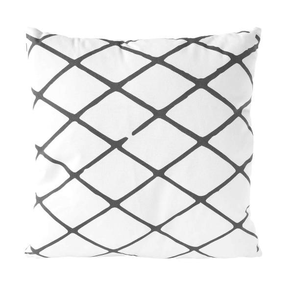 Kissen DIAMOND - Gray Pinstripe 45x45 cm