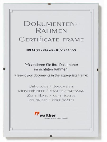 Rahmenlose Bildhalter / Cliprahmen für Urkunden