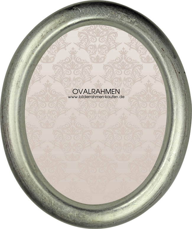 Oval Bilderrahmen Profil 200 silber/ gold