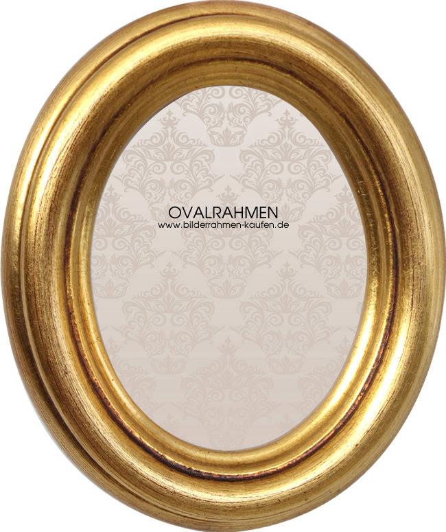 Oval Bilderrahmen Profil HB silber/ gold