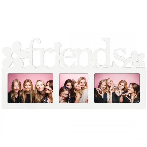 Galerierahmen Collage Montreal - FRIENDS für 3 Fotos - weiss
