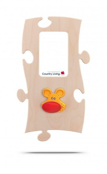 Puzzles+ Garderobe/ Rahmen Marion Maus/ 1 Foto 10x15 cm