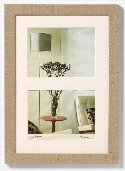 Holz Galerierahmen Home inkl. Passepartout mit 2, 3 oder 5 Ausschnitten