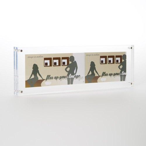 acryl bilderrahmen flux frame in 10x30x2 cm bilderrahmen. Black Bedroom Furniture Sets. Home Design Ideas