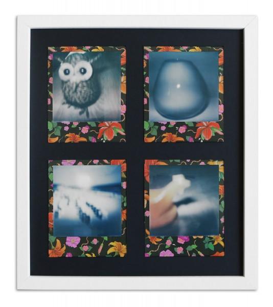 Polaroid Galerierahmen weiss für 4 Sofortbilder - Typ 600 inkl. Passepartout