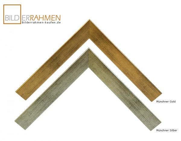 Holz Bilderrahmen Bavaria Profil 0256 silber/gold