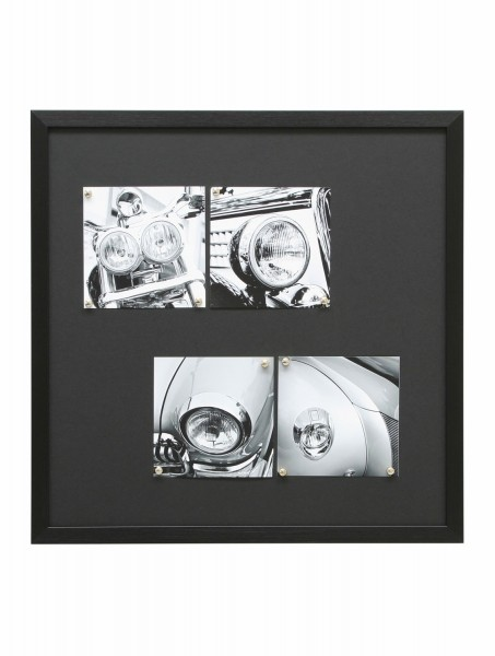 Magnetwand Louis 40x50 cm mit 8 Magneten schwarz