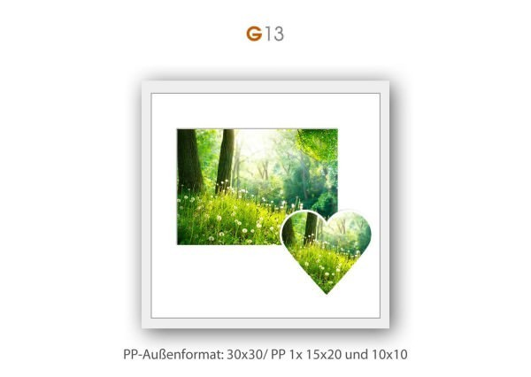 Galerie Passepartout G13 - 30x30/ PP je 1x 15x20/ 10x10 cm