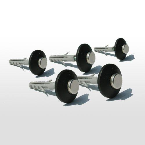 FLUX-Pins, Wandpins mit Schraube und Dübel in ca. 2 x 0,7 cm 5 Stück