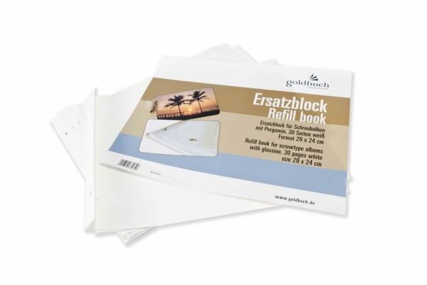 Erweiterungssatz für Schraubalbum weiß 29x24 cm