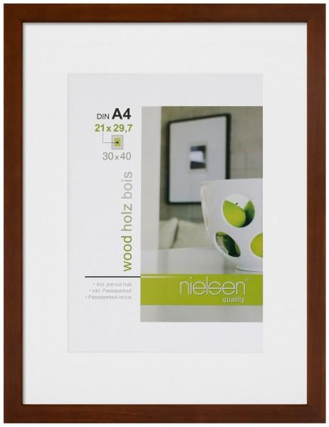 Holz Bilderrahmen Apollo inkl. Passepartout FSC® zertifiziert - 2er Set