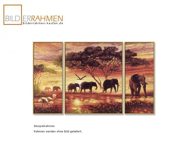 Kunststoff Bilderrahmen ART für Triptychon-Bilder