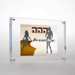 acryl bilderrahmen flux frame f r format 10x15 cm. Black Bedroom Furniture Sets. Home Design Ideas