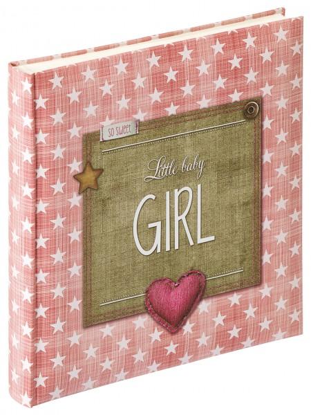 Babyalbum Little Baby Girl, 28x30,5 cm, altrosa