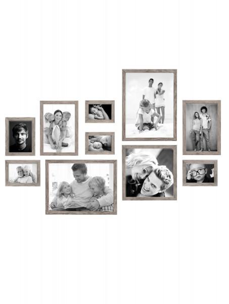 Bilderwand Lucas für 10 Bilder in Grau-Beige