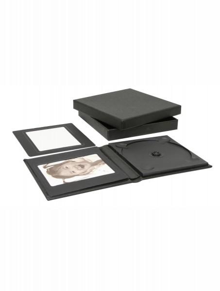 DVD-Box aus Leder schwarz