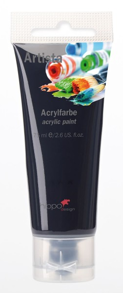 Acrylfarbe, schwarz 1 Tube je 75 ml