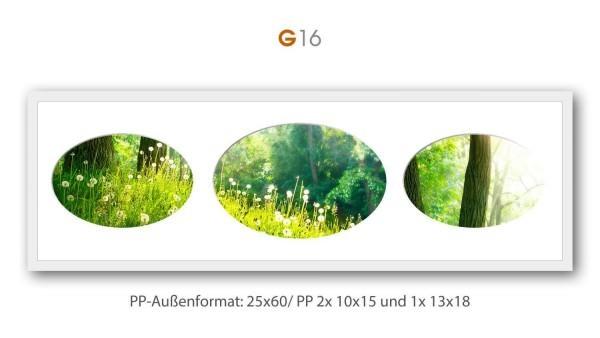 Galerie Passepartout G16 - 25x60/ PP 2x 10x15/ 1x 13x18 cm