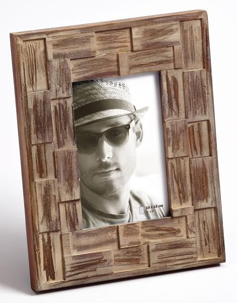 Holz Fotorahmen LIAM dunkelbraun im Sparset 2+1 - ein Rahmen gratis
