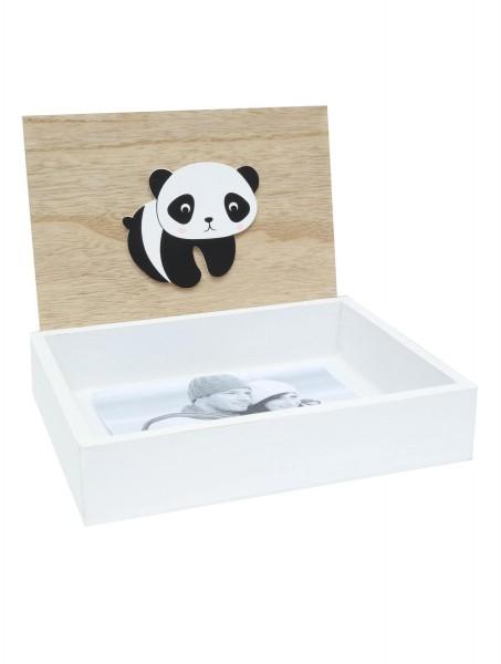Fotobox Panda natur/ weiss
