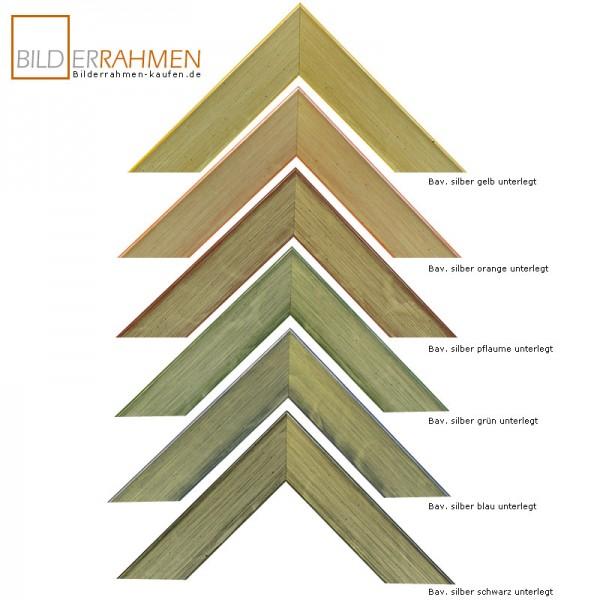 Holz Bilderrahmen Bavaria Profil 0256 farbig unterlegt