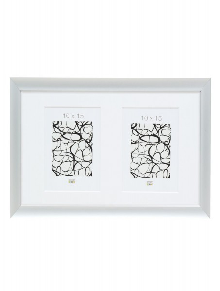Aluminium Galerierahmen Silver für 2 Bilder inkl. Passepartout
