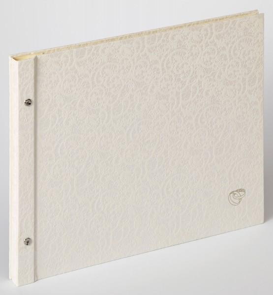 Buchschraubenalbum Sinfonia Wedding Music, weiß, 38x31 cm