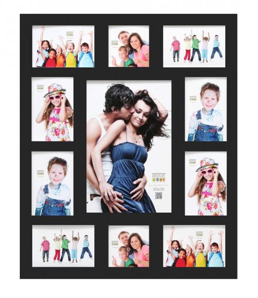 Galerie Bilderwandrahmen Liam schwarz f. 11 Bilder
