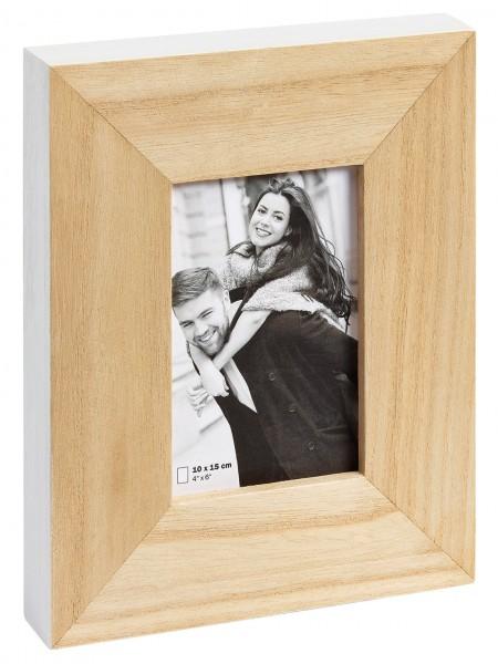 Holz Fotorahmen LAOIS natur/ weiss