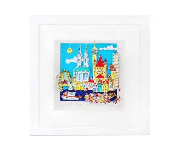 PAOLO RANDAZZO - I love Köln 3D-Grafik / limitiert auf 49 Exemplare