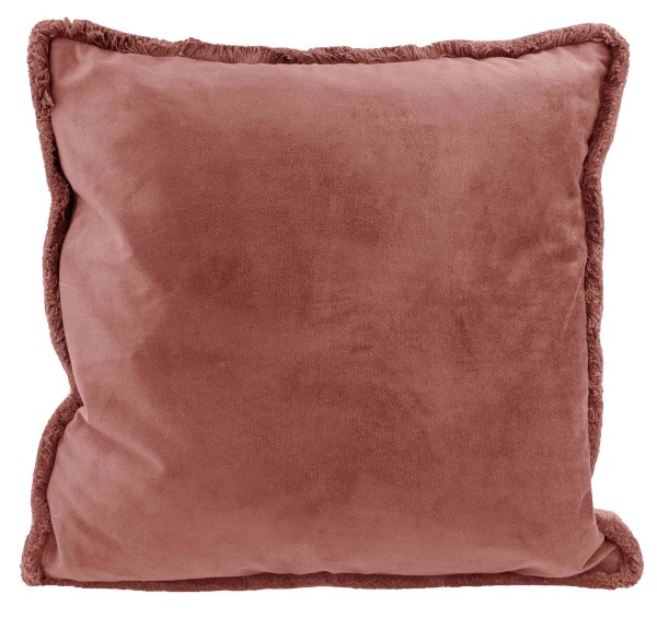 Kissen INDRA Old Rose/ Berry 45x45 cm