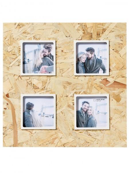 Holz Galerierahmen CHIP natur/ weiss für 4 Fotos