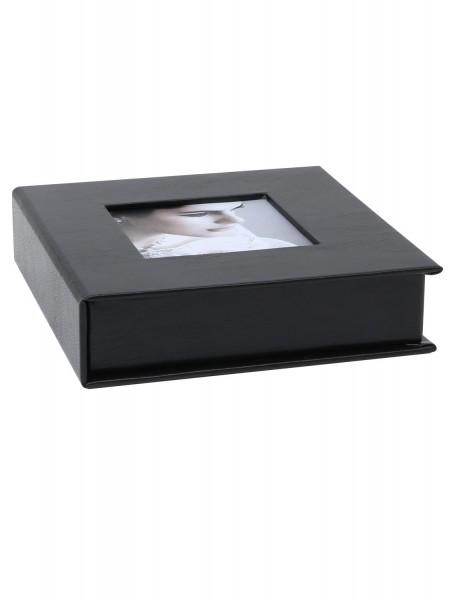 Foto USB-Box aus Leder schwarz
