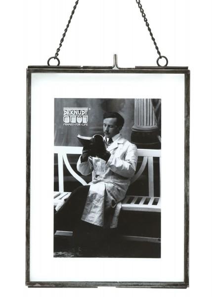 Fotorahmen Obsolet schwarz aus Metall