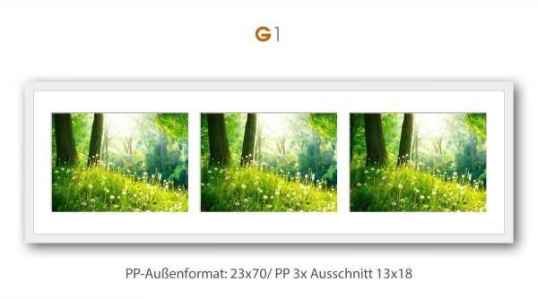 Galerie Passepartout G1 - 23x70/ PP 3x 13x18 cm