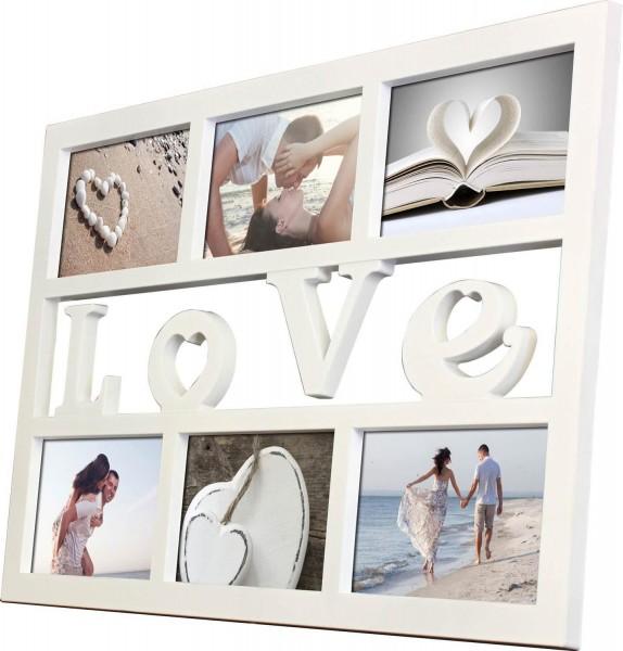 Galerierahmen Collage LOVE für Format 6x 10x15 cm - weiss
