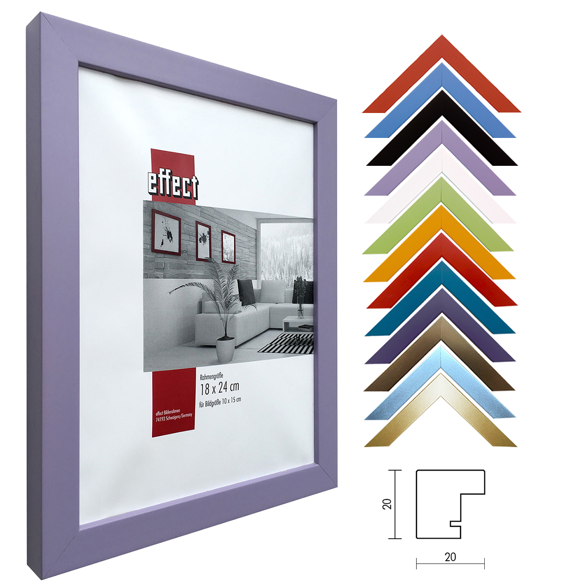 holz bilderrahmen top cube f r kreativ passepartout. Black Bedroom Furniture Sets. Home Design Ideas