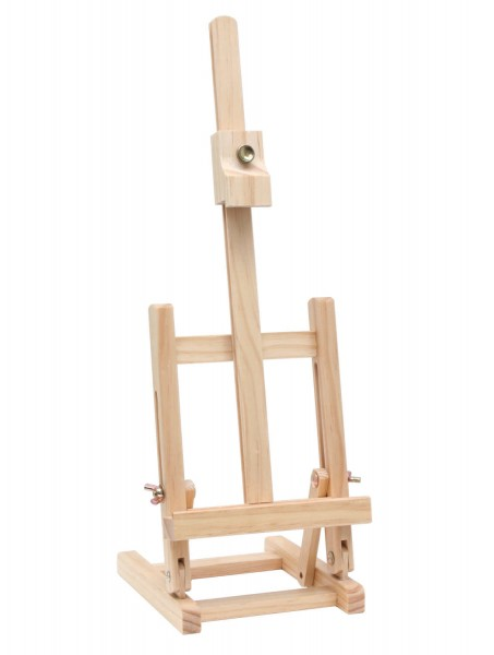 Staffelei 47 cm aus Holz natur