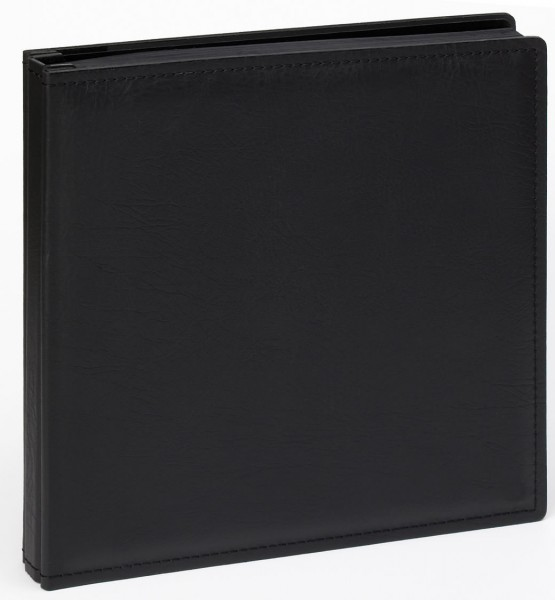 Buchschraubenalbum Premium schwarz, 37x37, 80 schwarze Seiten