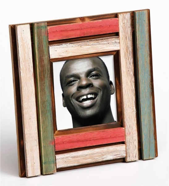 Holz Fotorahmen Iroko für 1 Foto - quadratisch