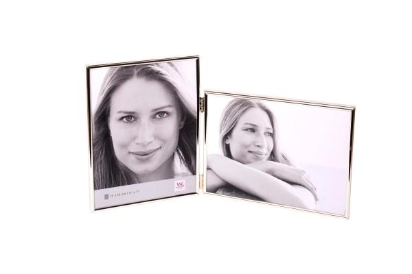 Metall Doppelrahmen Chloe für 2 Fotos silber