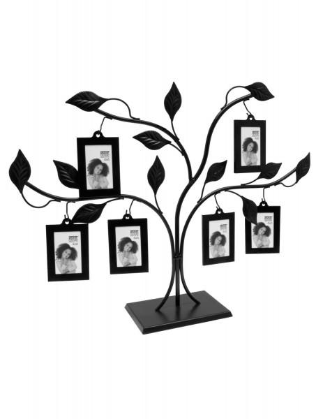 Metall Fotobaum in schwarz für 6 Fotos