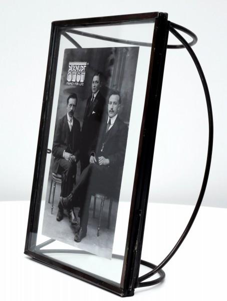 Metall Fotorahmen Obsolet schwarz